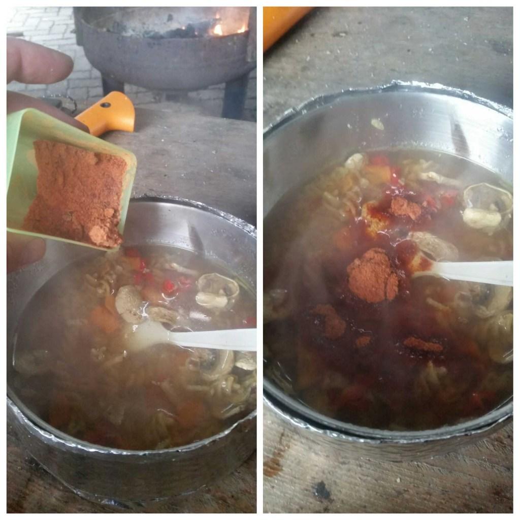 Hjemmelavet tomat pulver.