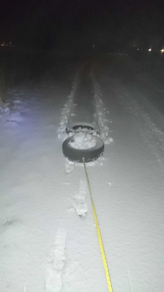 Træning i sneen..
